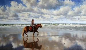 Langs het Zeeuwse strand